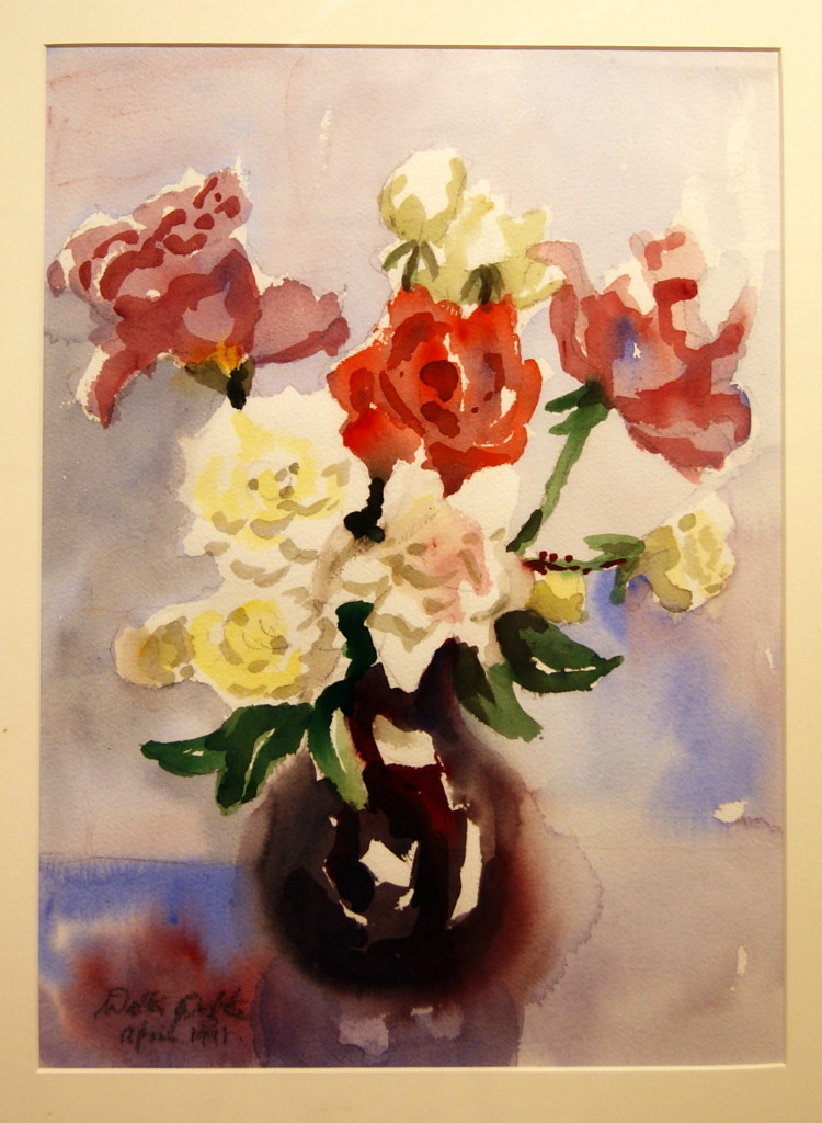 Walter Wotzke Watercolour Autumn Roses