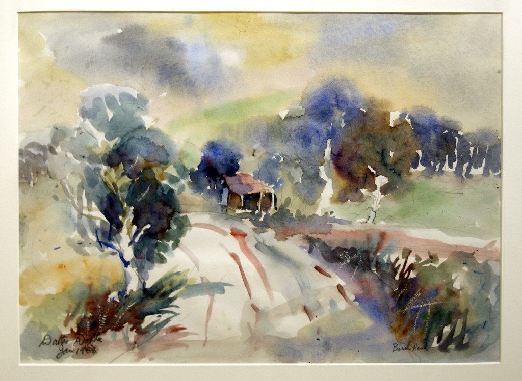Walter Wotzke Watercolour Bush Road