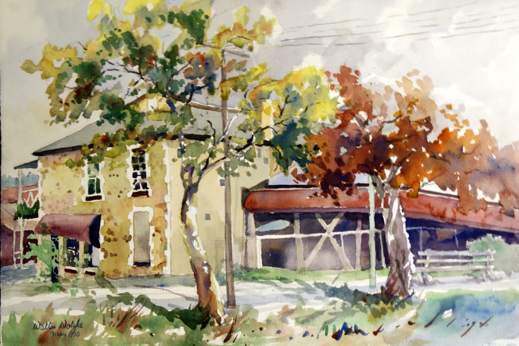 Walter Wotzke Watercolour German Arms Hahndorf