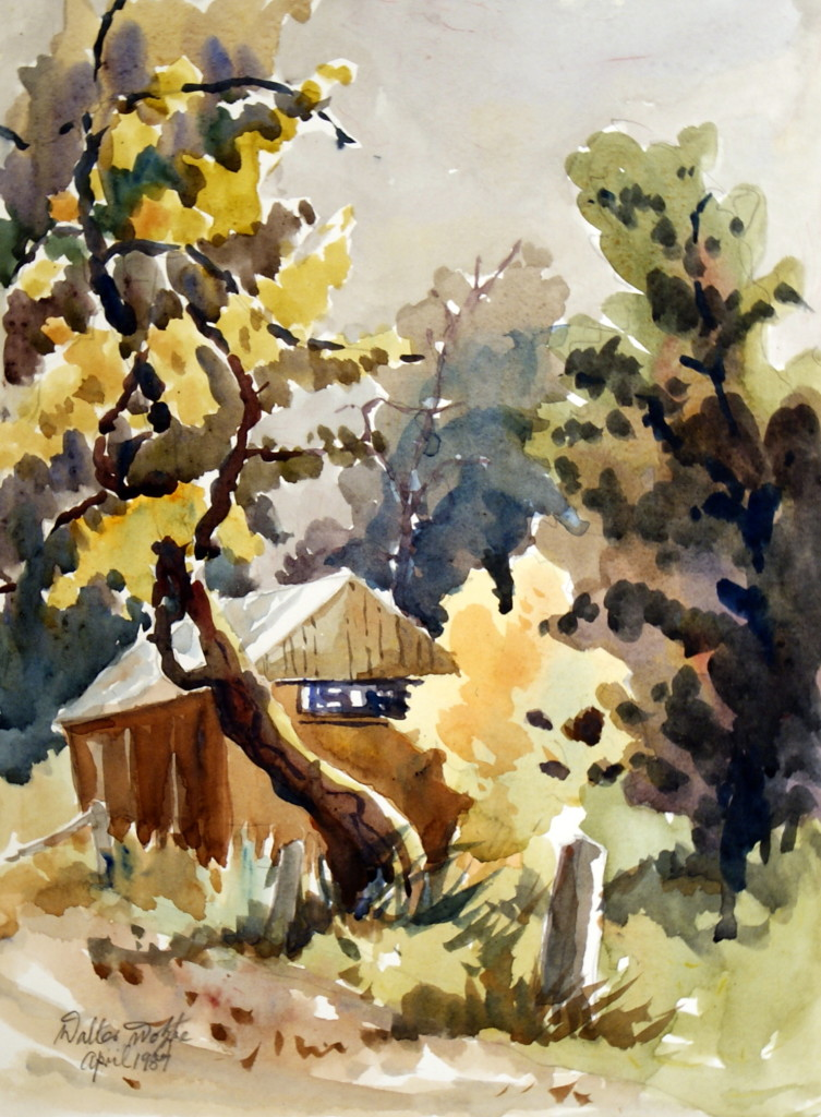 Walter Wotzke Watercolour Paechtown Barn South Australia