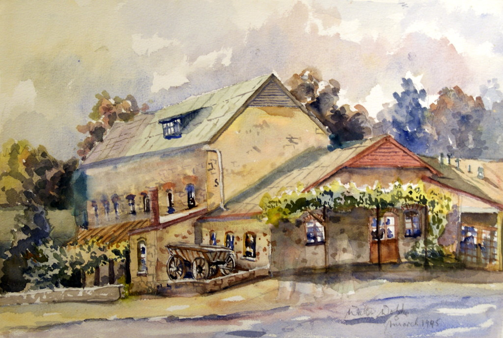 Walter Wotzke Watercolour The Old Mill Hahndorf