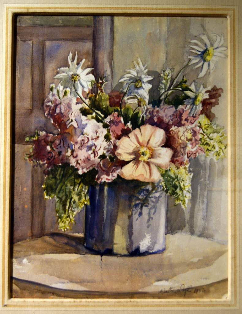 Walter Wotzke Watercolour Flower Arrangement