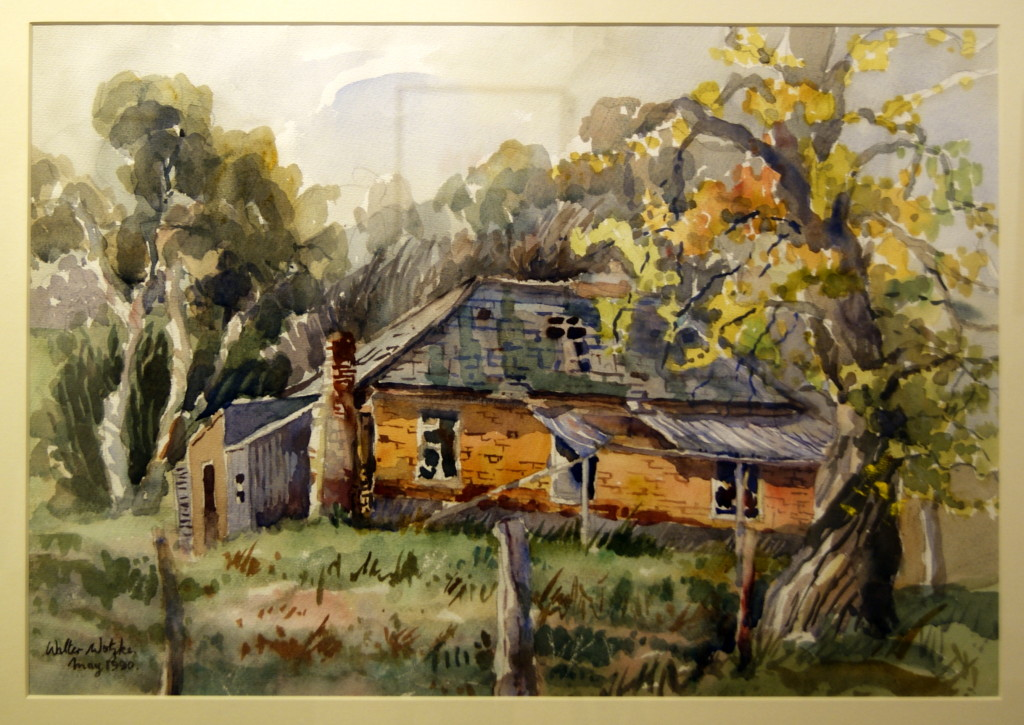 Walter Wotzke Watercolour Old House